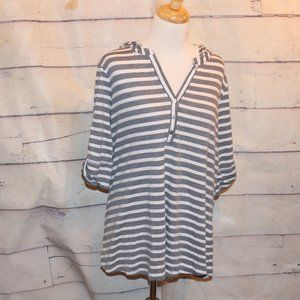 Plus Size 2X Hooded Shirt Top